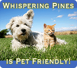 Whispering Pines is a Pet Friendly Park